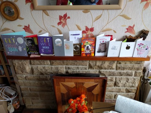 Get Well Cards from my lovely friends and family