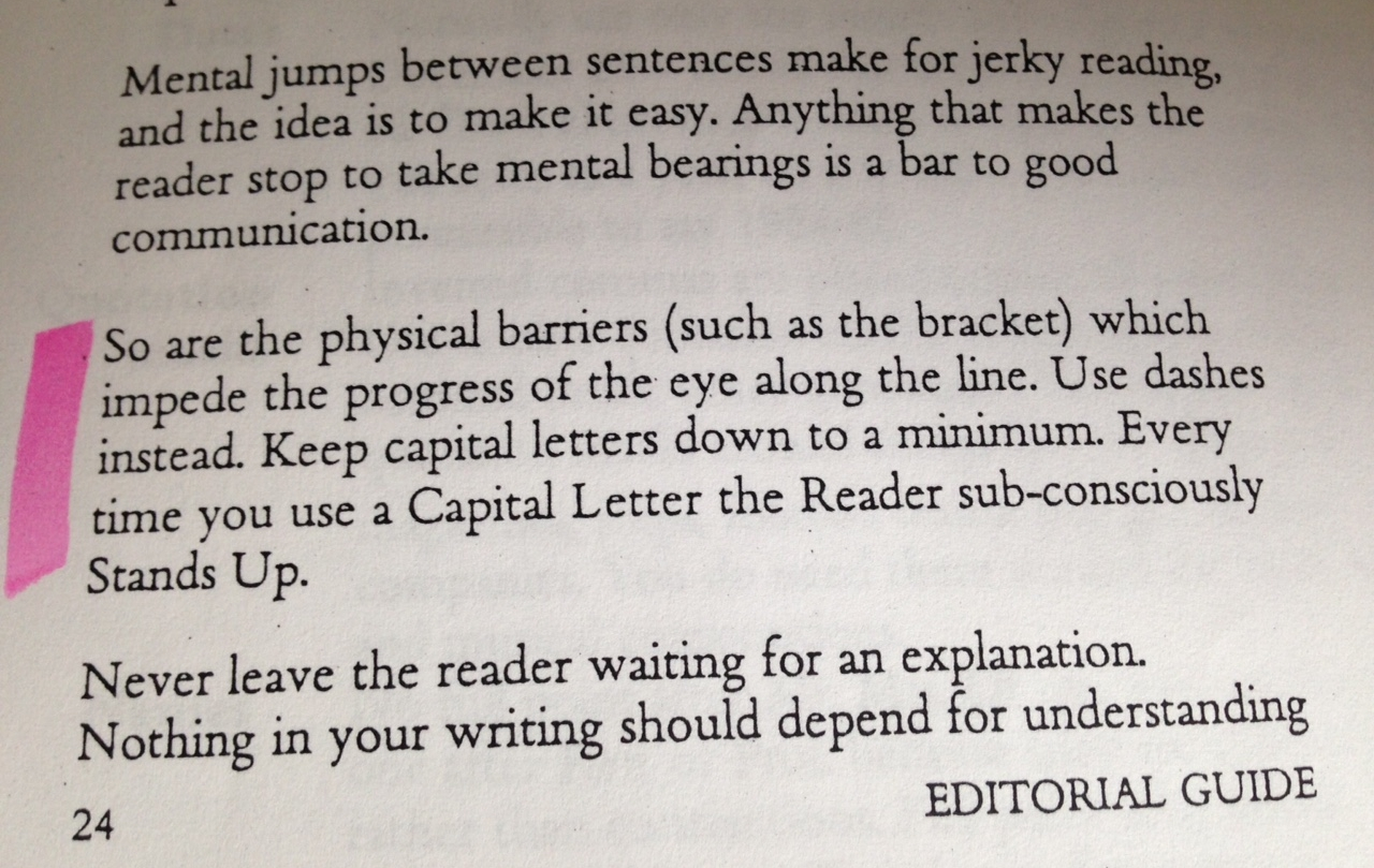 Dont let your readers to stand up! An extract from Newspaper Style by Keith Waterhouse
