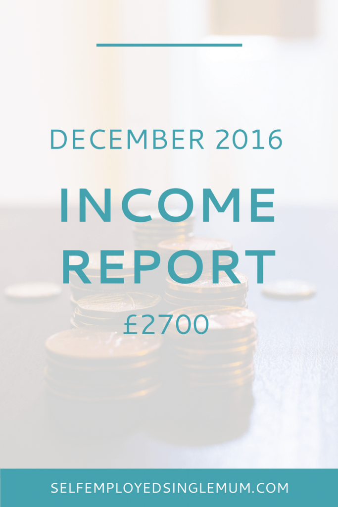 December 2016 Income Report | Self-employment Advice