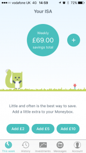 The best finance app for savings is Moneybox