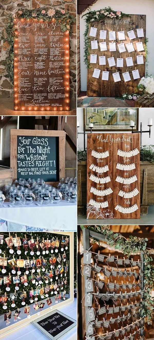 15 Trending Wedding Seating Chart Display Ideas For 2018