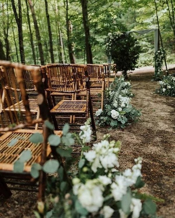 wooded forest small wedding ceremony ideas