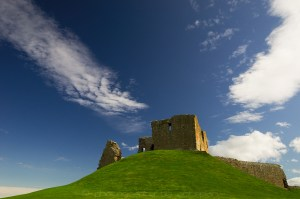 Duffus Castle in the Sun