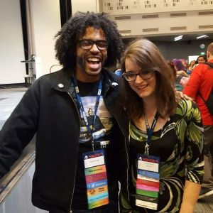Emma and the rapper/hip hop artist Daveed Diggs. His music is amazing! Also he's very handsome.