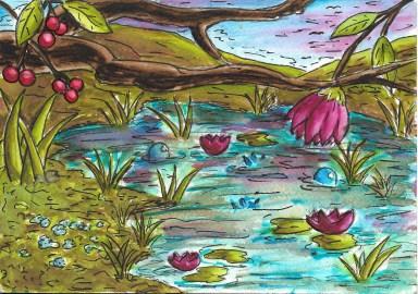 pond-tree-branch