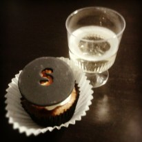 cupcakes and champagne to celebrate the launch of the new homepage on SSENSE