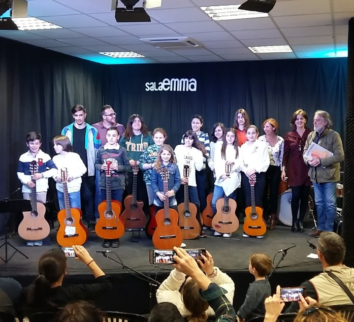 Alumnado de guitarra clásica y flamenca