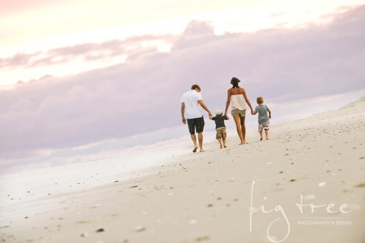 Family session on the beach
