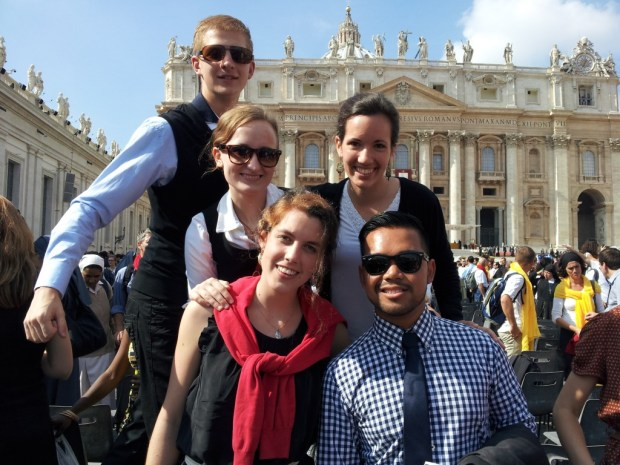 On St. Peter's Square.