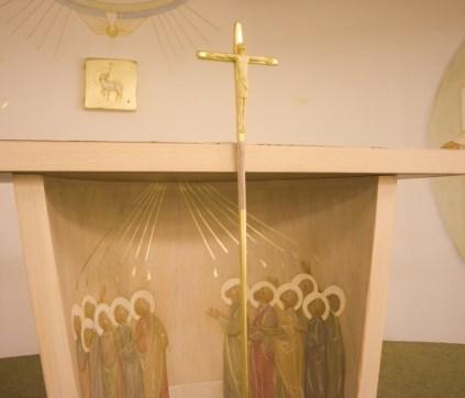 Pentecost altar, lamb tabernacle; Paris, France.