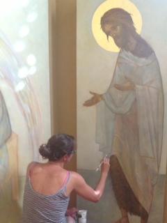 Painting John the Baptist