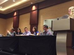 Matt Fradd (L), Crystalina and Jason Evert (center), Lila Rose (center-right), Brian Butler (R), Cristina Barba (far right-not shown).