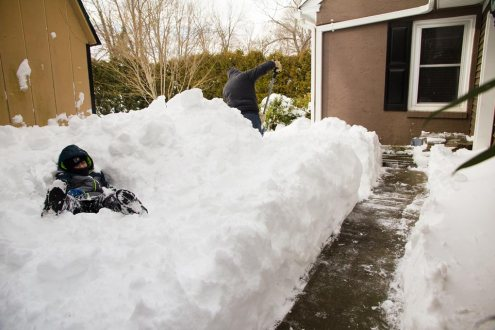 Shoveling snow - Malvern, PA