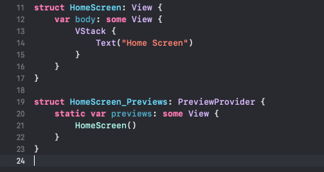 SwiftUI autogenerated preview