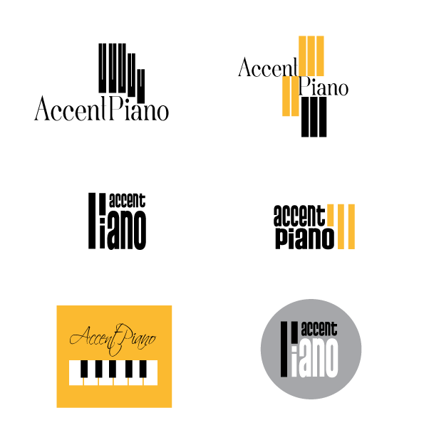 CREATION DE LOGO accent-piano