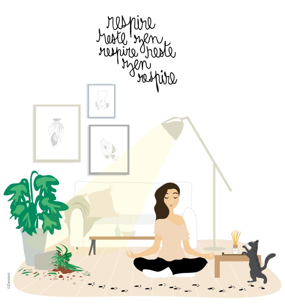 dessin rester zen
