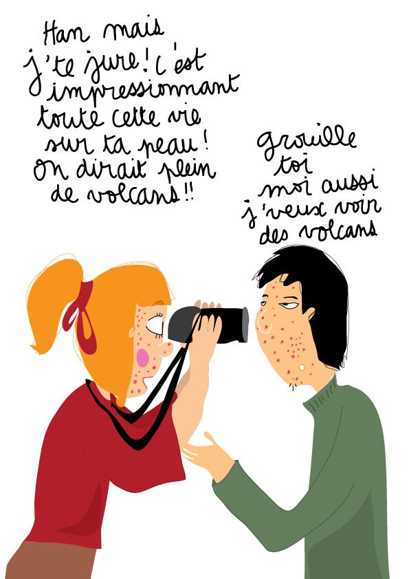 dessin humour ado acne