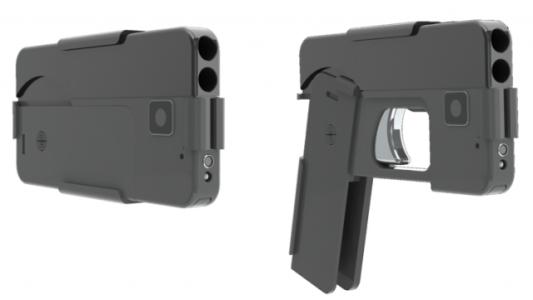 Pistola que parece celular