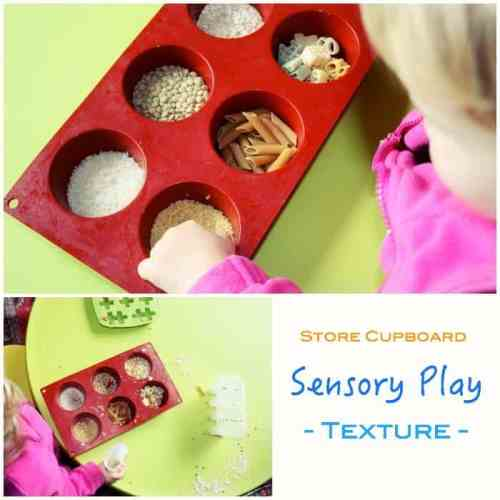 Store Cupboard Sensory Play - with texture
