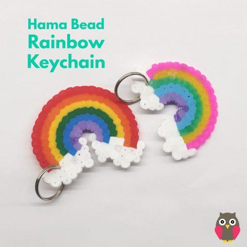 This hama bead rainbow keychain DIY gift idea is wonderful!! We love making our own gifts, something that grandparents and friends can ACTUALLY use!!