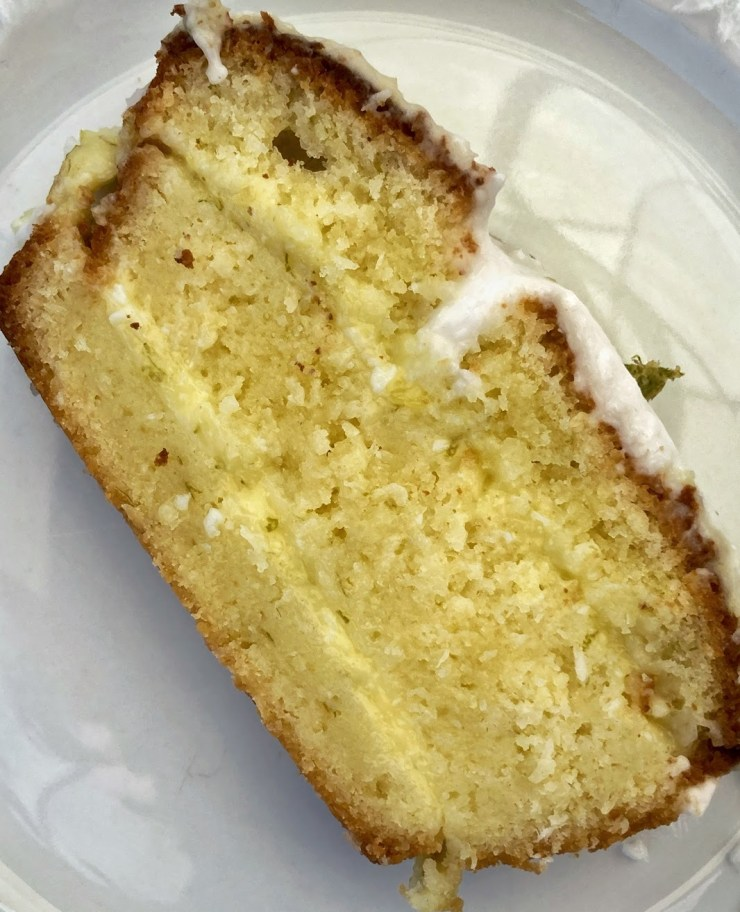 cake coco citron vert découpe