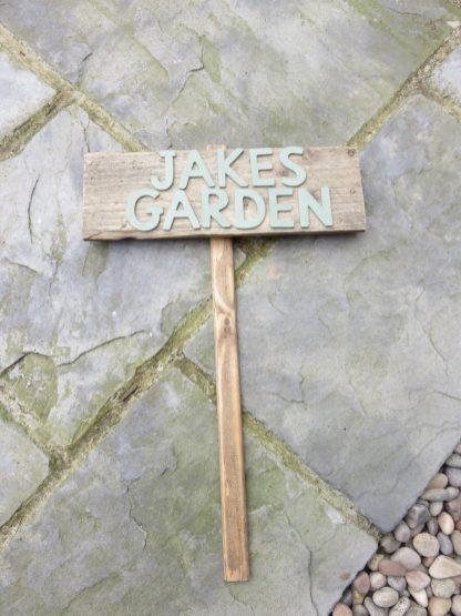 Jake's garden sign