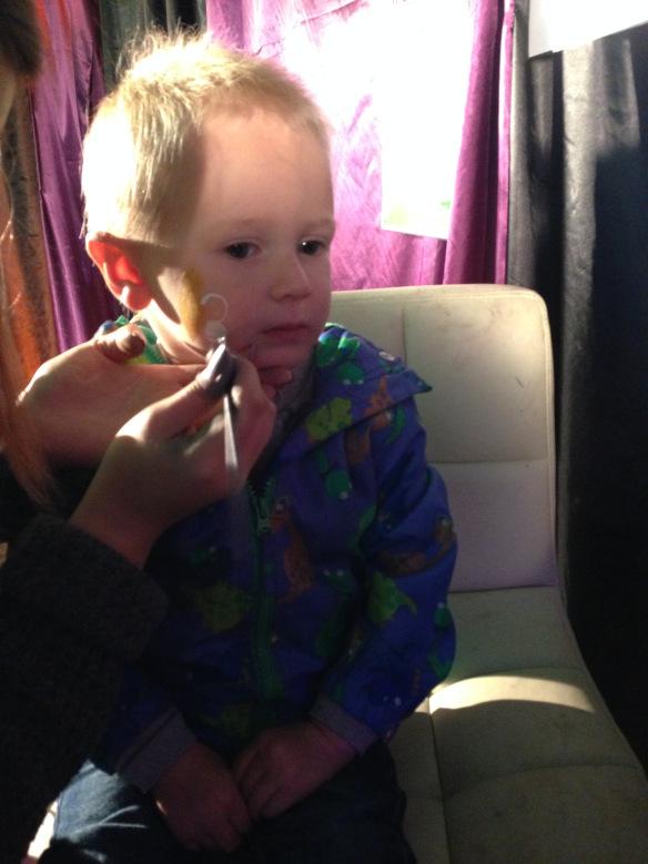 Jake getting a facepaint