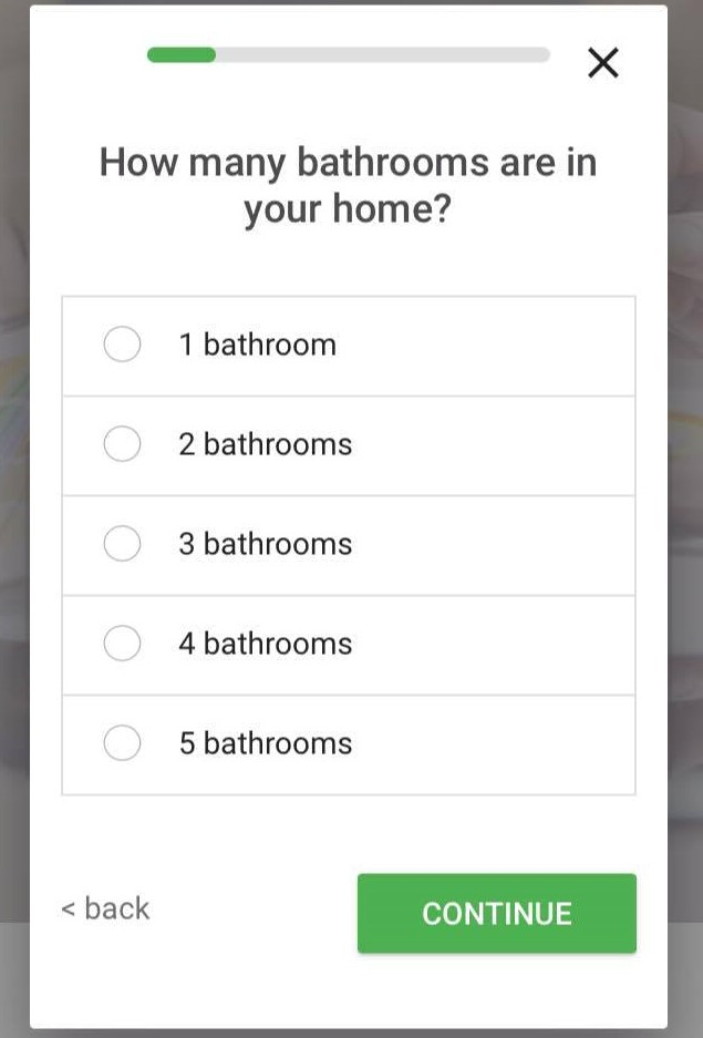 screenshot of how many bathrooms are in your home