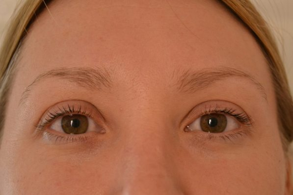 front facing image of finished lashes