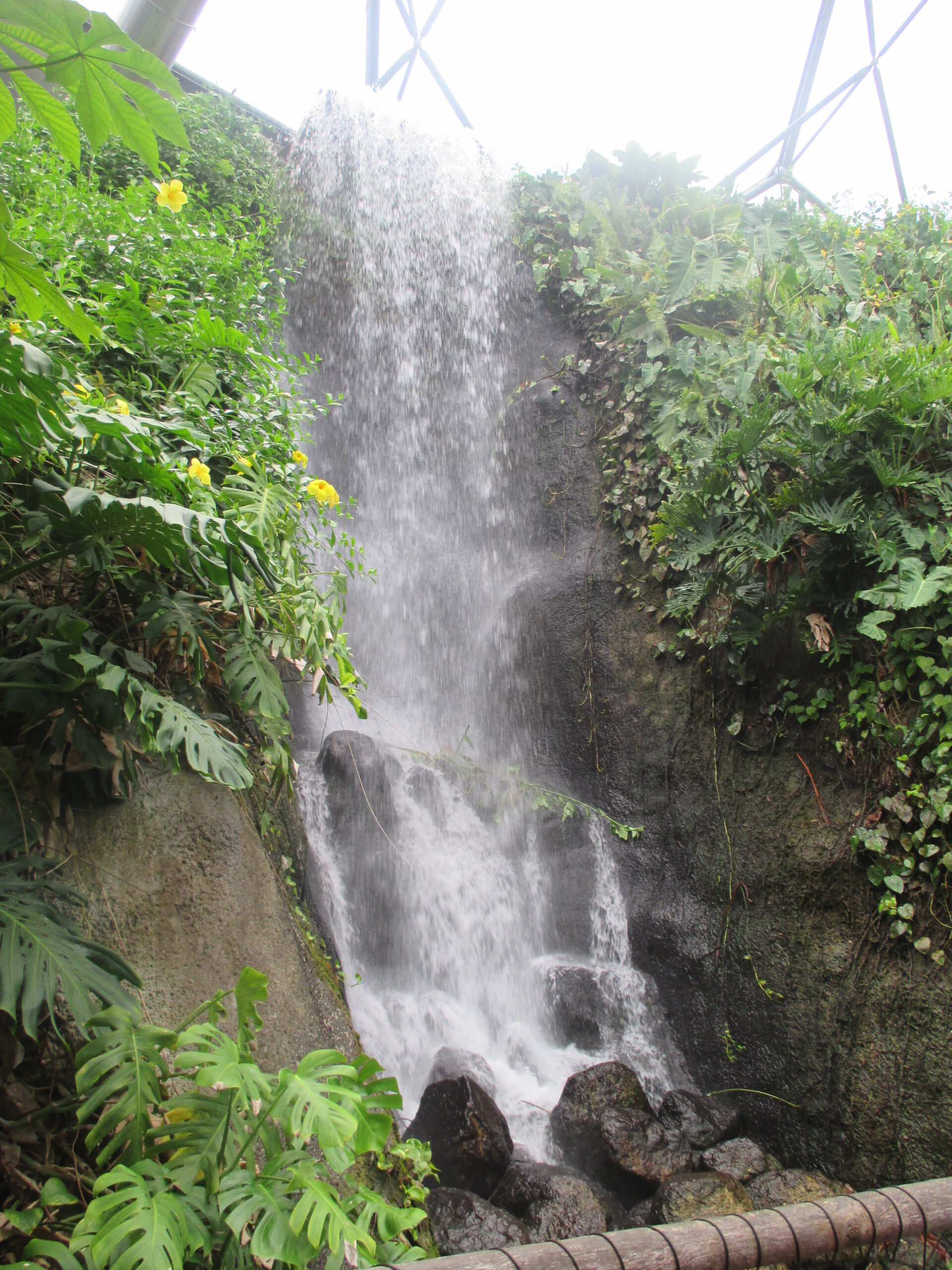 waterfall in the eden project