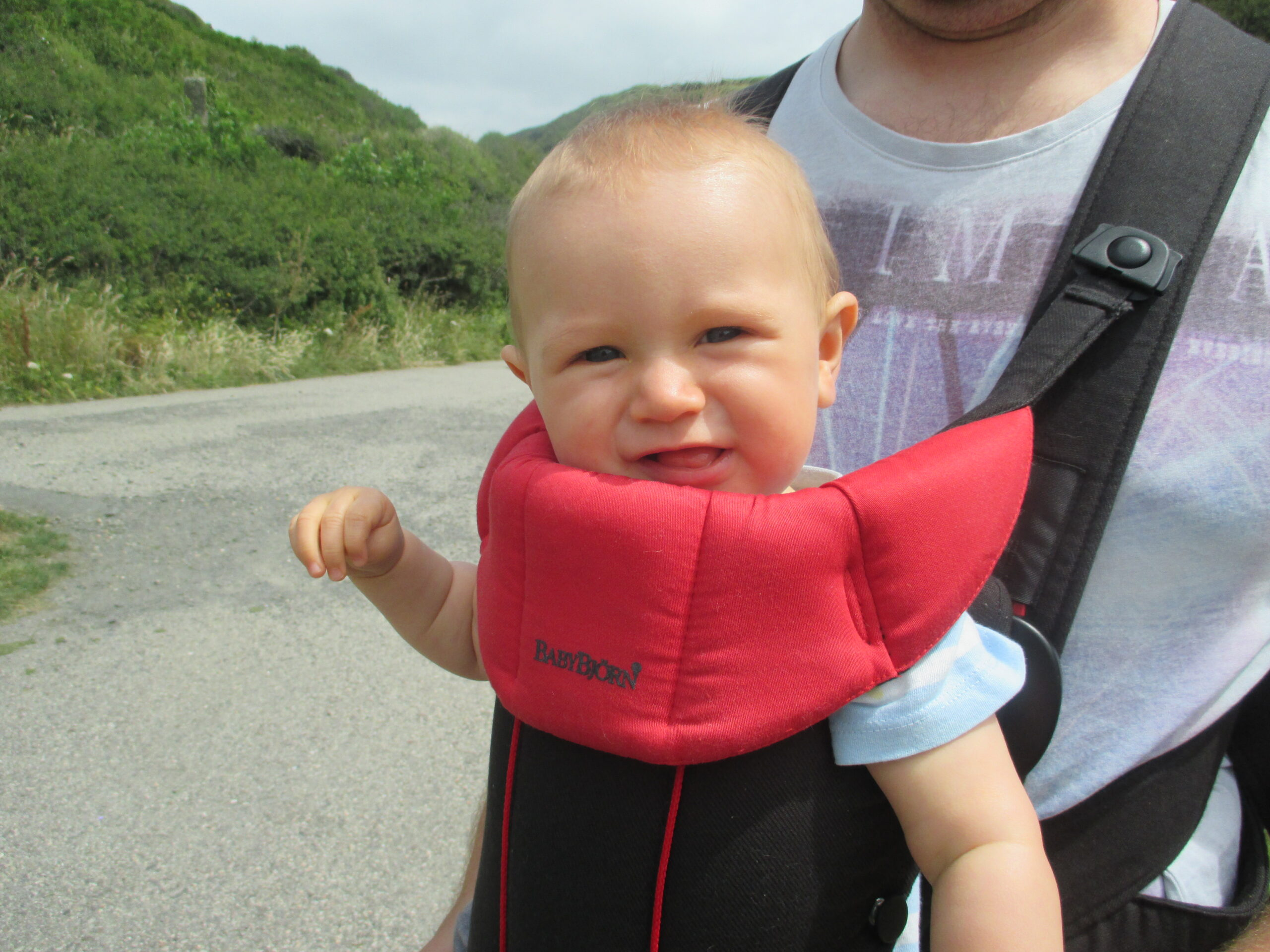 child in carrier