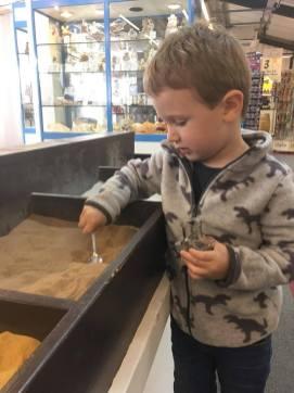 Jake filling his sand pot