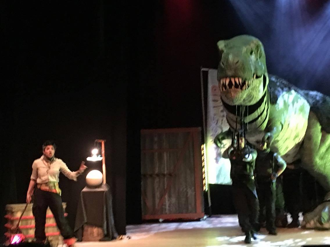 t rex on stage