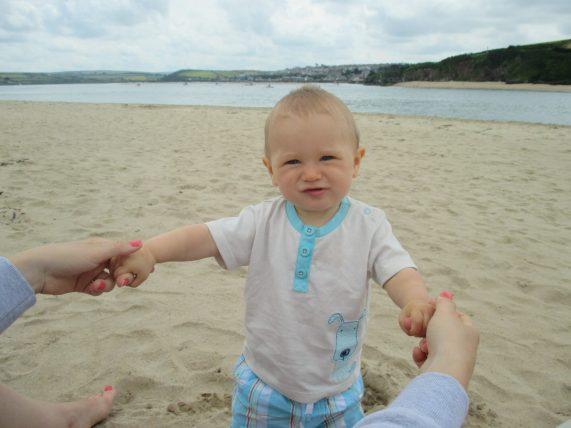 child on beach