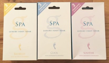 3 spa foot soak packs