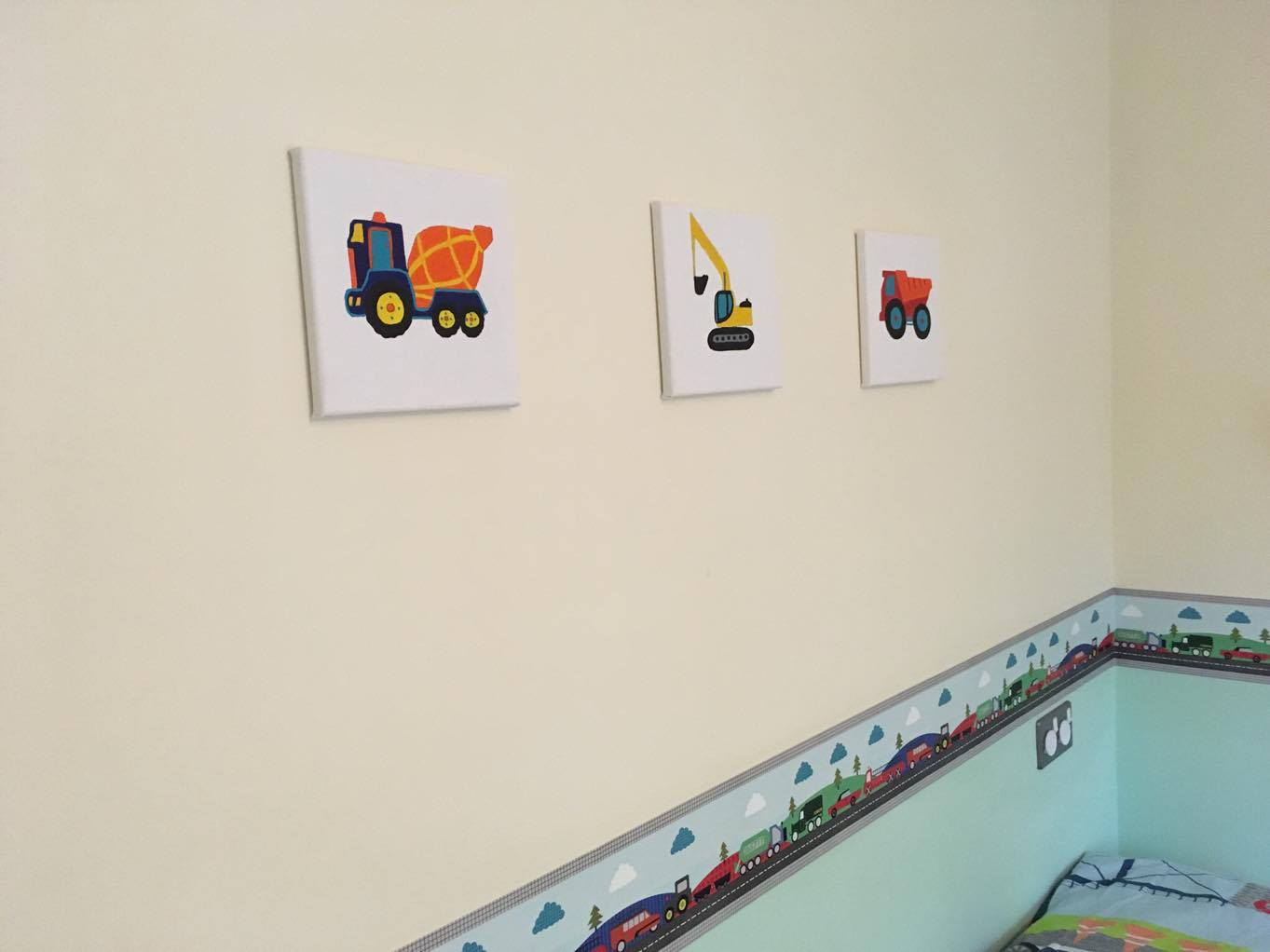 canvasses with trucks on