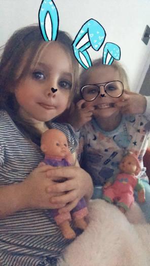 Children selfie