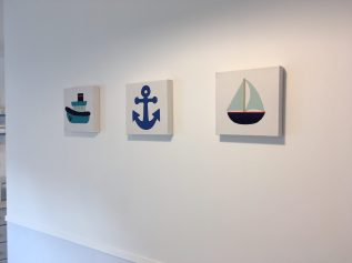 nautical canvasses on wall