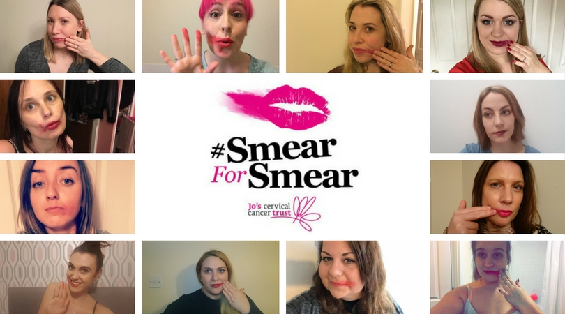 smear for smear campaign- women with smeared lipstick
