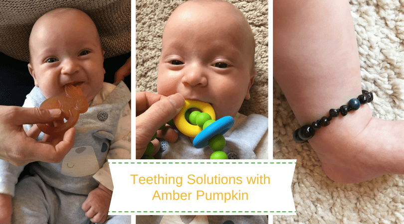 teething solutions with amber pumpkin