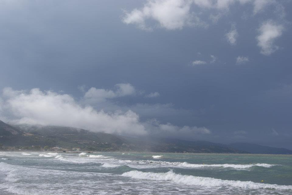 stormy weather over the sea