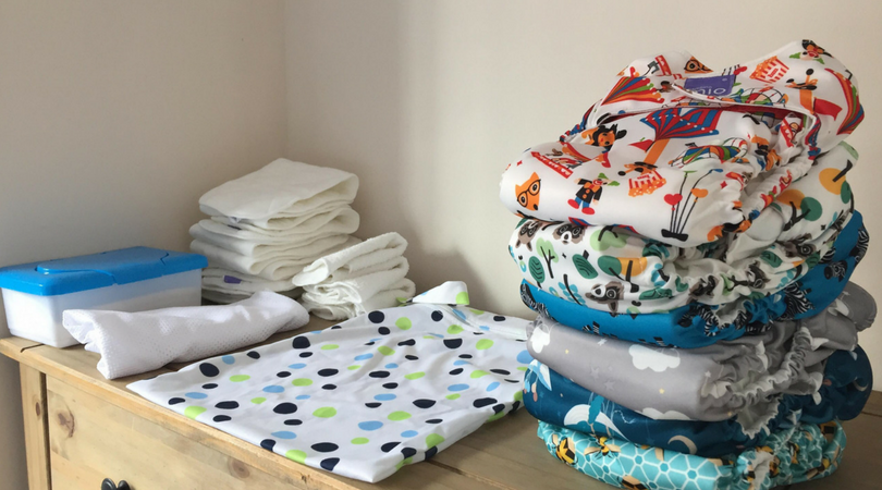 all in one cloth nappies plus wetbag, wipes and boosters