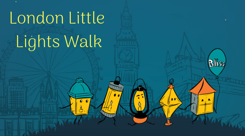 London little lights walk, 5 lanterns walking across London