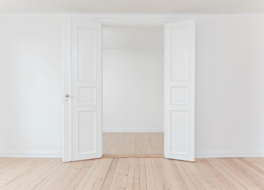 empty room and double doors