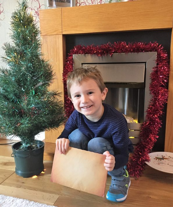 Jake with his santa letter