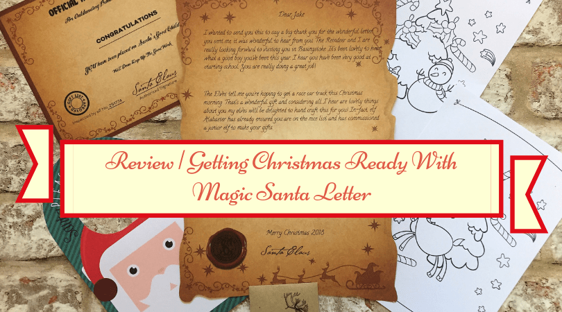 layout of the magic santa letter with title across