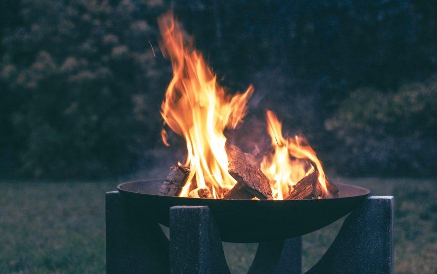 fire pit in garden