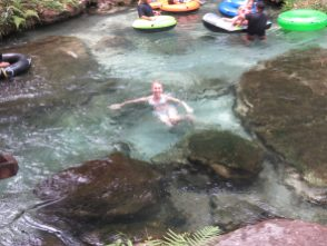 me in the water at kelly park springs on our florida holiday