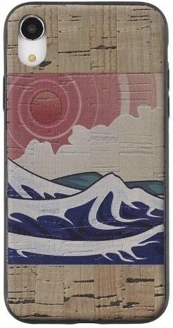 a mobile phone case with a pretty sea design