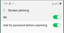 screen pining on - How To Enable Screen Pining On Android